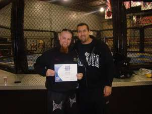 Referee Jeff Kemp with Instructor John McCarthy